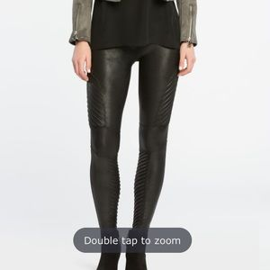 SPANX Faux Leather Motto Leggings